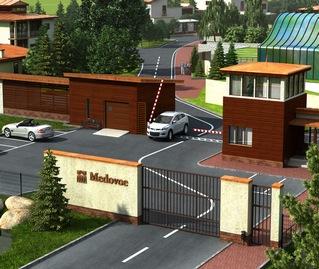 Охраняемый коттеджный поселок Медовое Комфорт и безопасность Контрольно пропускной пункт охраняемый коттеджный поселок